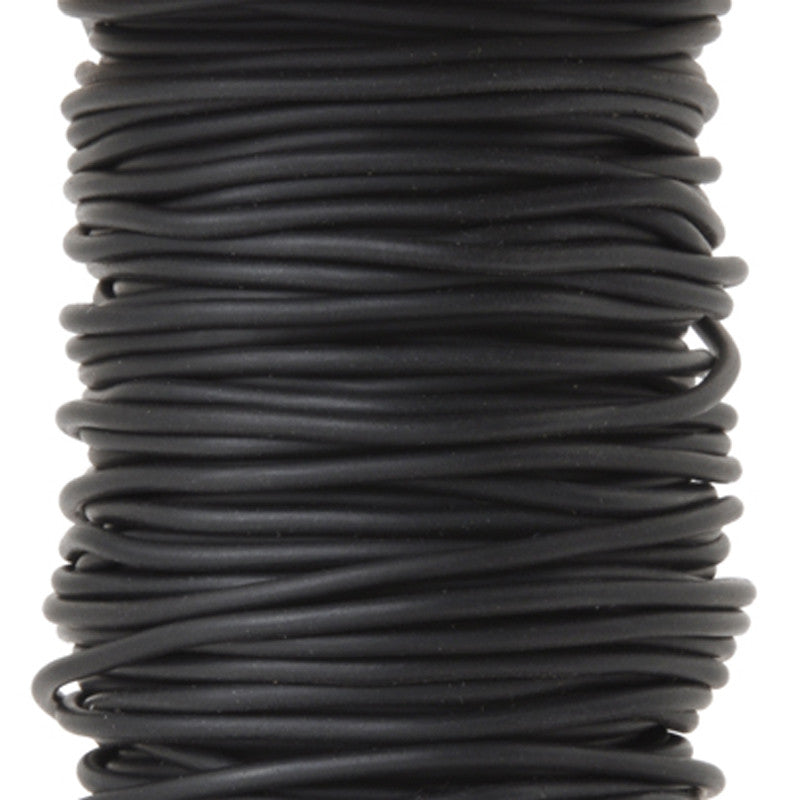 Supplies-3mm Rubber Cording-Black-Solid Core