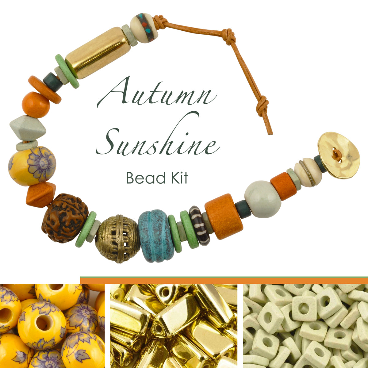 Bead Kits-Autumn Sunshine-Single Bracelet Kit-Quantity 1