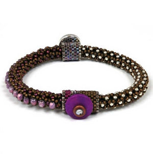 Bead Kits-Circle Of Gems Summertime-Single Bracelet Kit-Amethyst-Pattern Sold Separately