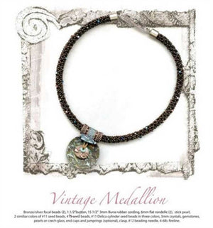 Bead Kits-Vintage Medallion-Abalone-Kit Only-Pattern Sold Separately