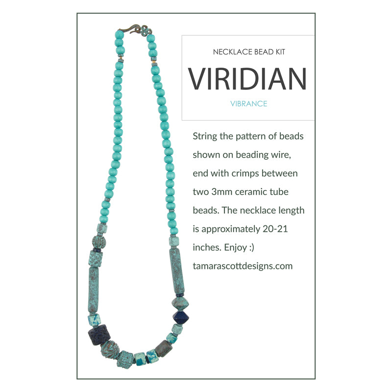 Bead Kits-Viridian Vibrance-Single Necklace Kit-Quantity 1