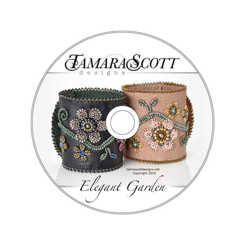 Beading Patterns-Dvd Pattern And Kit-Elegant Garden-Beige Suede
