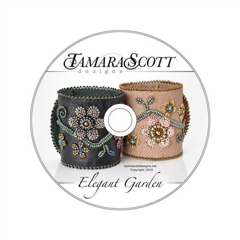 Beading Patterns-Dvd & Printed Pattern-Elegant Garden
