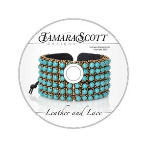 Beading Patterns-Dvd & Printed Pattern-Leather And Lace