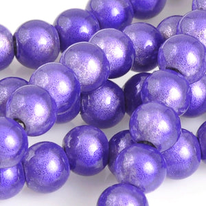 Beads-4mm Japanese Miracle Beads-Round-Purple-Quantity 1