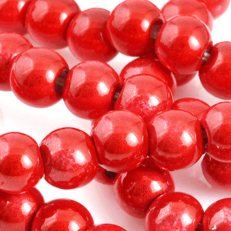 Beads-6mm Japanese Miracle Beads-Round-Cherry-Quantity 1