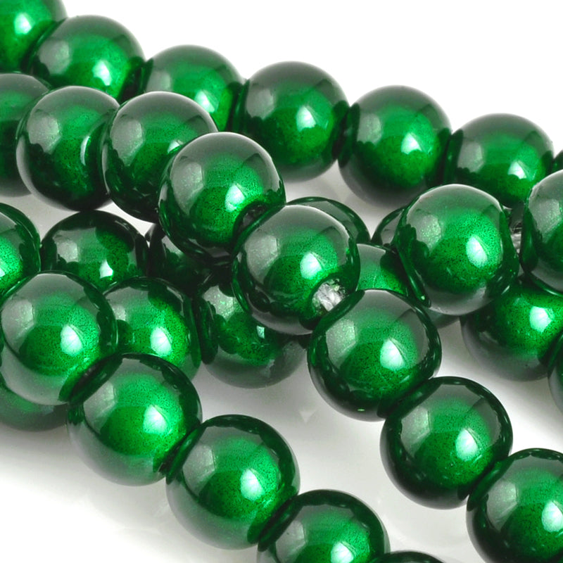 Beads-6mm Japanese Miracle Beads-Round-Green-Quantity 1