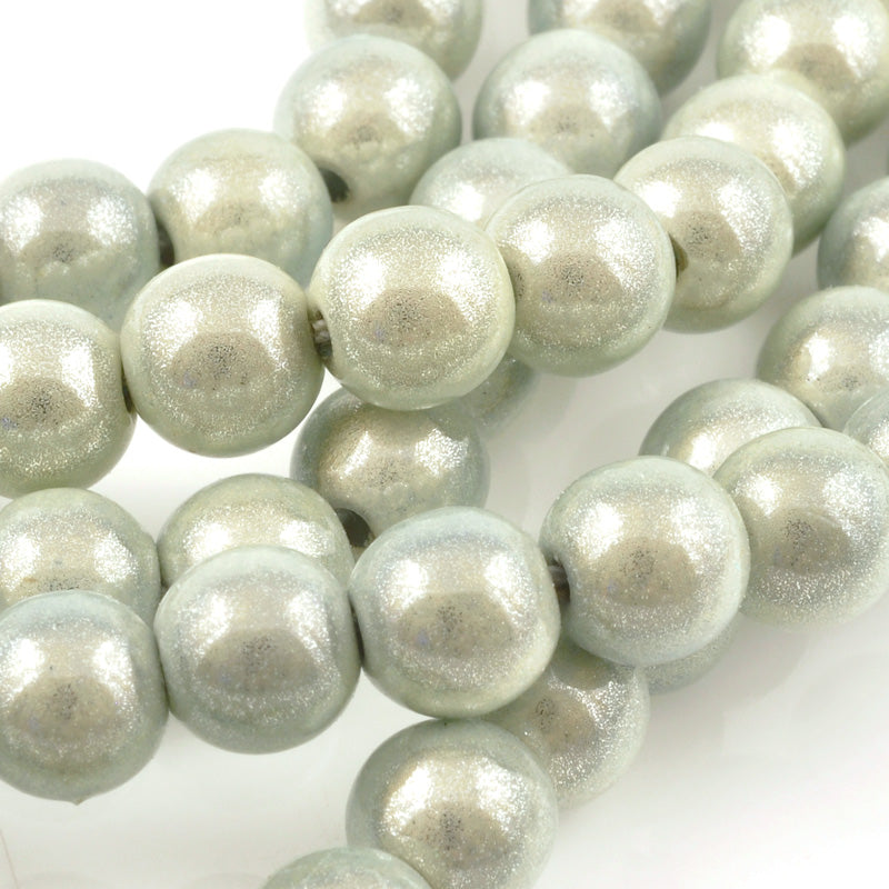 Beads-8mm Japanese Miracle Beads-Round-White-Quantity 1