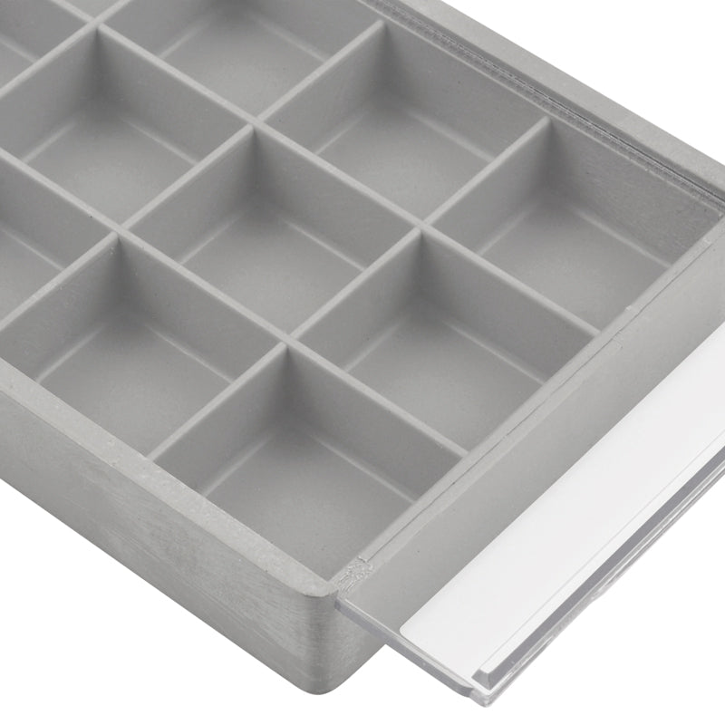 Beadsmith-Supplies-7x3 Inch Tray Organizer-18 Compartment-Grey-Quantity 1