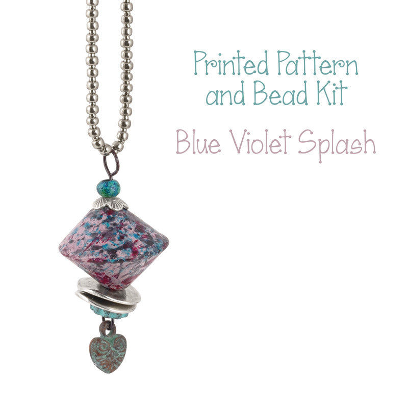 Beading Patterns-Printed Pattern and Bead Kits-Blue Violet Splash-Bella