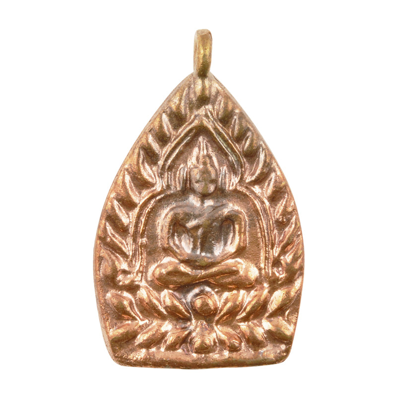 Brass-24x37x3mm Buddha-Antique Copper-Thailand-Quantity 1