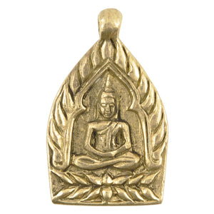 Brass-24x37x3mm Buddha-Antique Gold-Thailand-Quantity 1