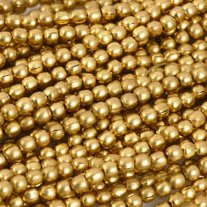 Brass-2mm Tiny Round Bead-Gold