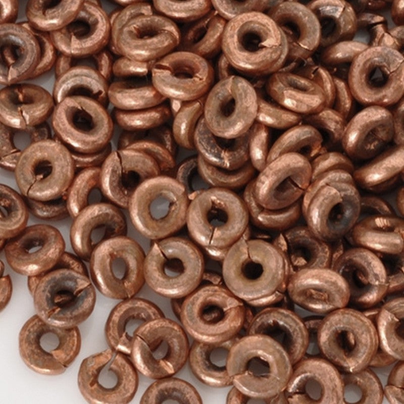 Brass-4mm Hishi Spacer Bead-Copper-15 Inch Strand