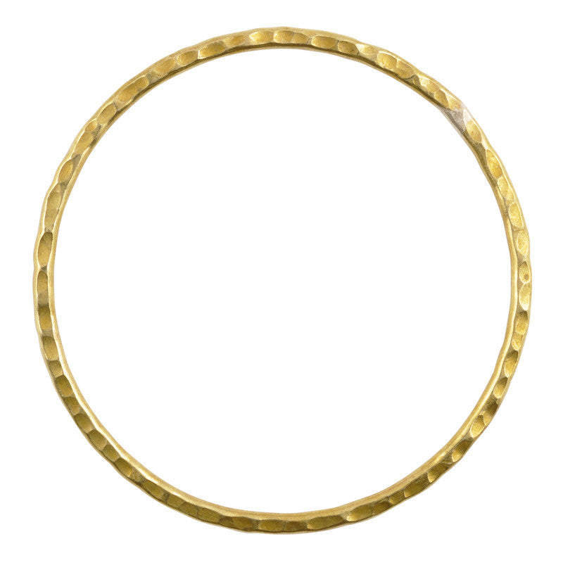 Brass-70mm Hammered Ring-Hilltribe-Quantity 1