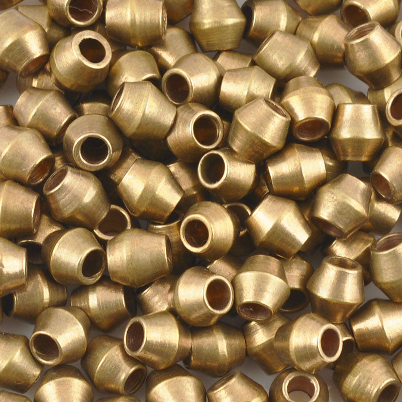 Brass Beads-4.5mm Bicone-Bronze