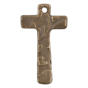 Bronze Casting-18x27mm Victorian Cross-Weathered Grey-Quantity 1