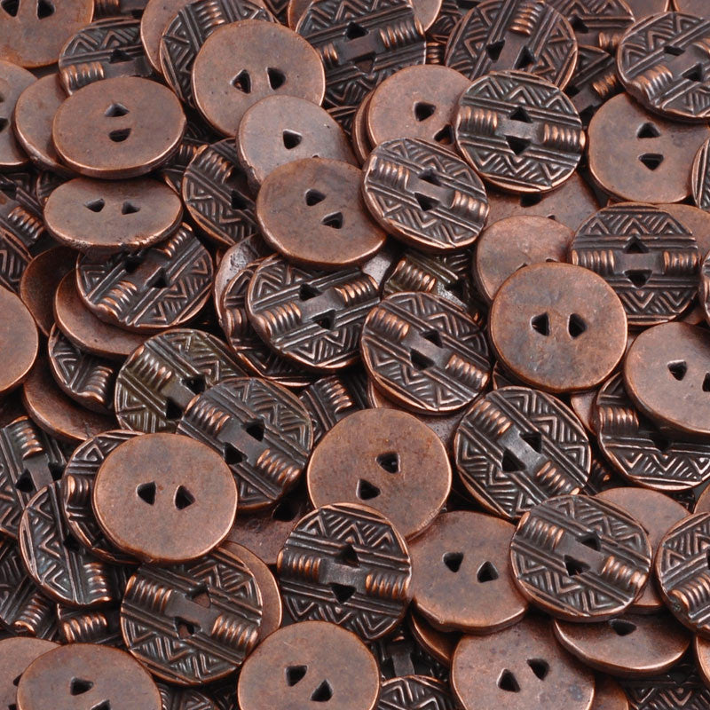 Button-13mm Native Casting-Antique Copper
