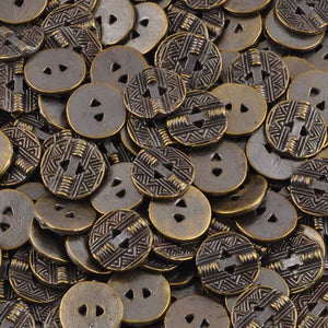 Button-13mm Native Casting-Antique Bronze
