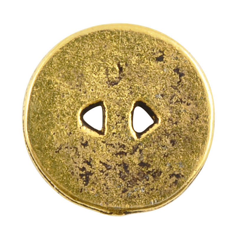 Button-13mm Native Casting-Antique Gold
