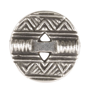Button-13mm Native Casting-Antique Silver
