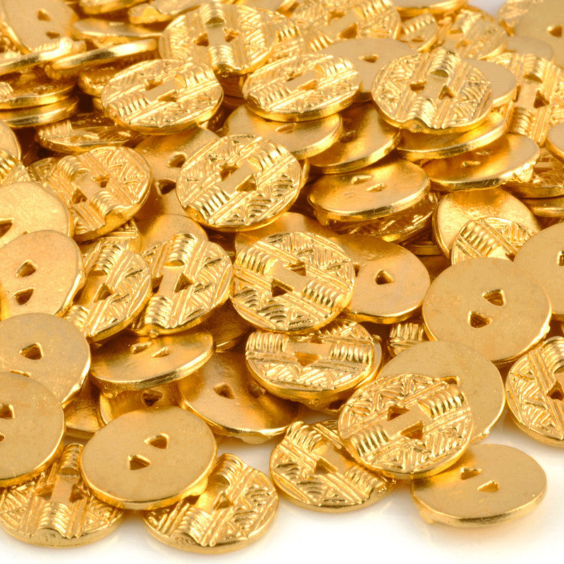 Button-13mm Native Casting-Gold