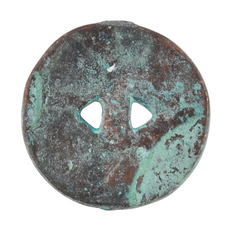 Button-13mm Native Casting-Green Patina-Quantity 1