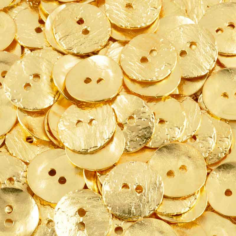 Button-16mm Cornflake Casting-Gold-Quantity 4