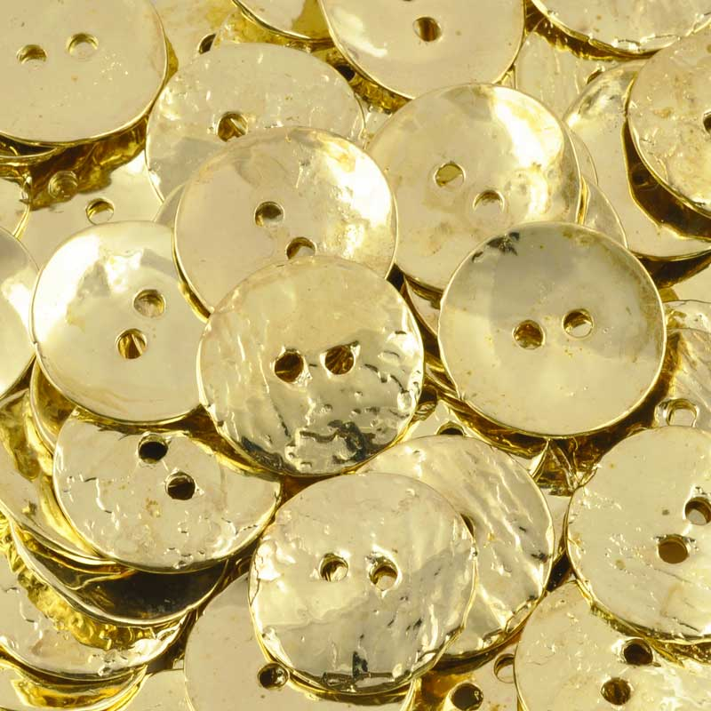 Wholesale Buttons-16mm Cornflake Casting-Brass-Quantity 40