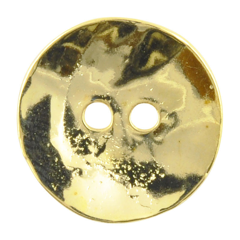 Button-16mm Cornflake Casting-Brass