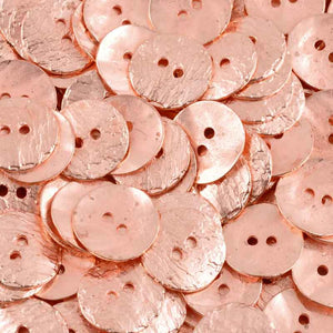 Button-16mm Cornflake Casting-Copper-Quantity 4