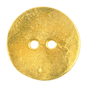 Button-20mm Cornflake Casting-Gold