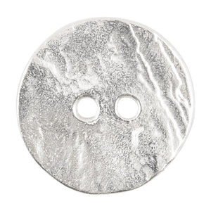Button-20mm Cornflake Casting-Silver