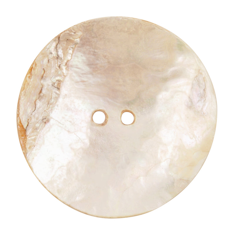 Button-39mm Iridescent Paua Shell-White-Quantity 1