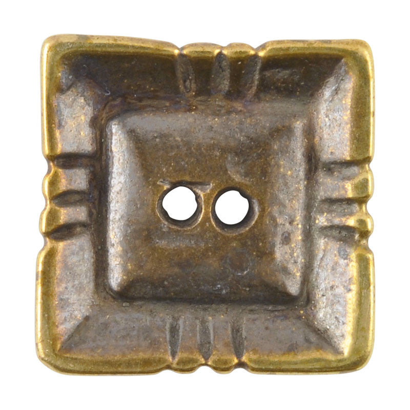 Buttons-20mm Square Pyramid-Casting-Antique Bronze