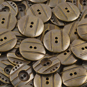 Buttons-25mm Round Casting #10-Antique Bronze