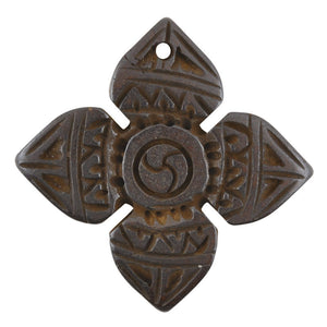 Carved-28mm Square-Dark Brown