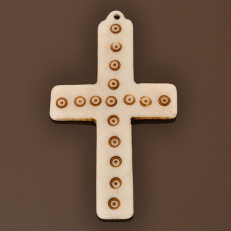 Carved-32x60mm Cross Pendant-Quantity 1