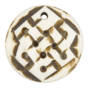 Carved Beads - 30mm Endless Knot Pendant - Tamara Scott Designs