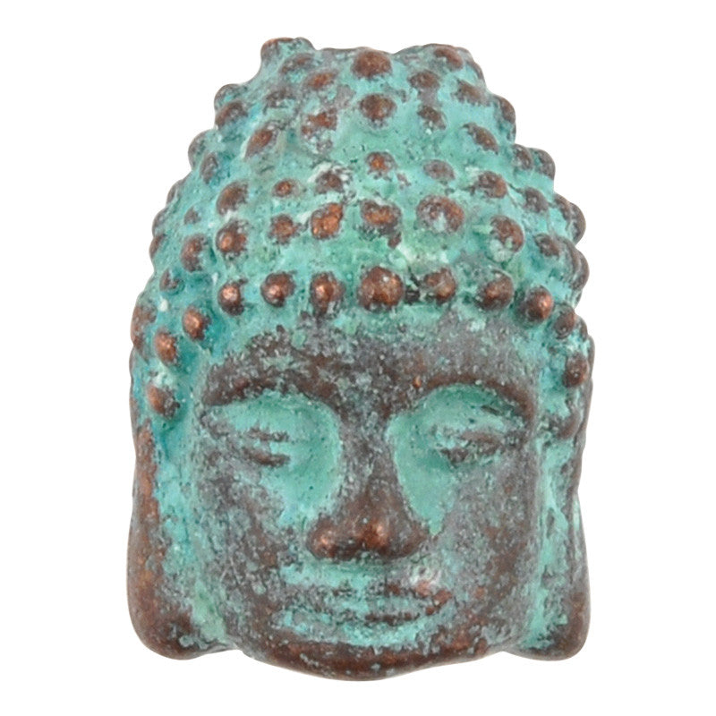 Casting-10x12mm Buddha-Green Patina