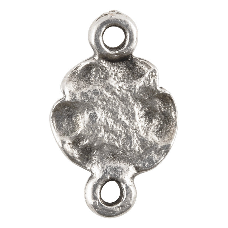 Casting-11x12mm Rose Connector-Antique Silver