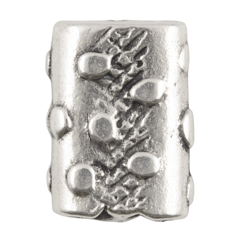 Casting-11x15mm Imprint-Two Hole-Antique Silver