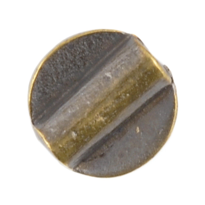 Casting-12mm Flat Round Tube-Antique Bronze