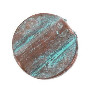 Casting-12mm Flat Round Tube-Green Patina