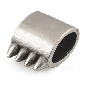 Casting-13x18mm Oval with Spikes-Antique Silver