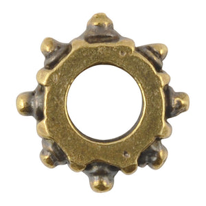 Casting-14mm Gear Bead-Antique Bronze