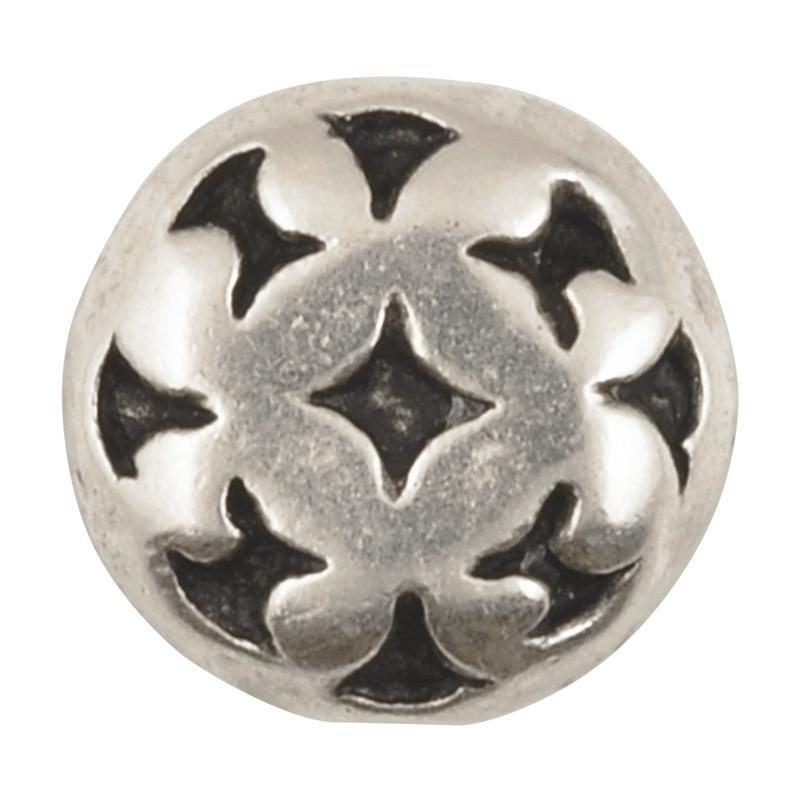 Casting-15mm Diamond Pattern-Antique Silver-Quantity 1