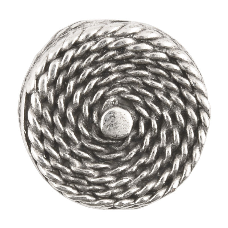 Casting-15mm Flat Round Rope Design-Antique Silver