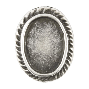 Castings-15x20mm Bezel-Antique Silver