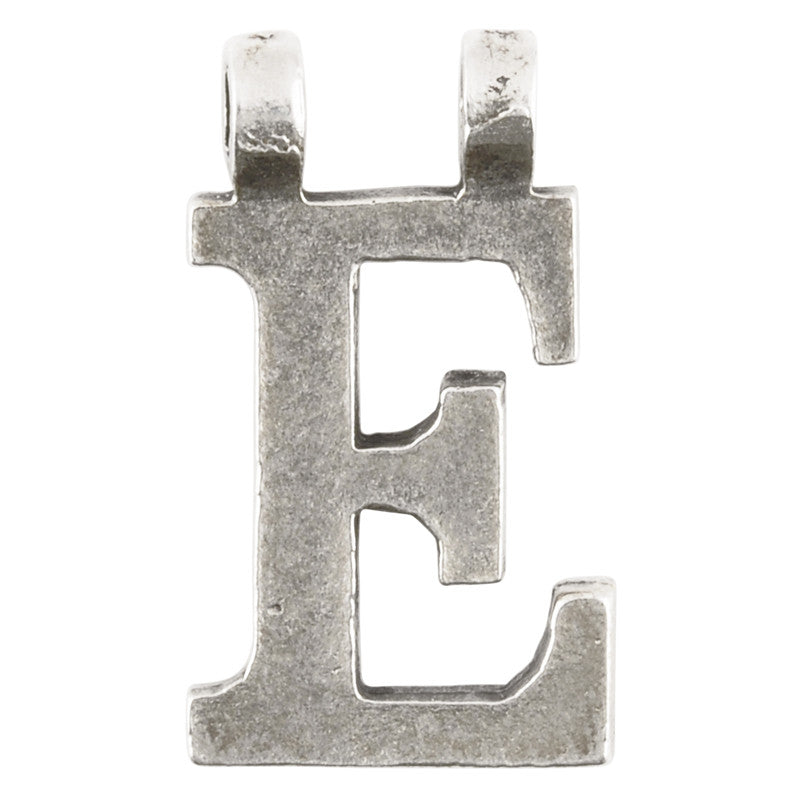"Casting-15x28mm Letter ""E""-Antique Silver"